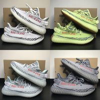Wholesale Dresses Size 13 - 12 Color 350 V2 Mens Shoes Designer Running Shoes For Men Women Luxury Brand Sport Canvas Casual Dress Trainers Sneakers Size 13