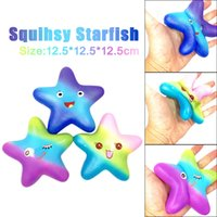 Wholesale fun anti stress toys resale online - 12 CM Squishy Anxiety Attention Anti stress Toys Exquisite Fun Galaxy Starfish Scented Squishy Charm Slow Rising Kids gift