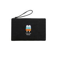 ipad fall gold großhandel-Kiitos Life Canvas lustige Stickerei flache Tasche / Handtaschen in Sommer Talk Series anpassbar für ipad mini (FUN KIK)