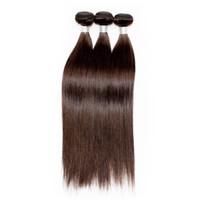 Wholesale brazilian remy hair extensions for sale - Brazilian Straight Hair Bundles Human Hair Weave Color Darkest Brown Grade A Brazilian Virgin Hair Straight Extensions