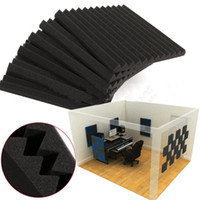 """12 PCS Acoustic Wedge Studio Soundproofing Foam Wall Tiles 12"""" X 12"""" X 1"""" Inches"""