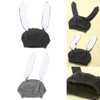 Wholesale cashmere baby crochet hats online - Children s Hat Infant Toddler Kids Rabbit Ears Knitted Hat Winter Warm Cap for Girl Boy Accessories Baby Photography Props