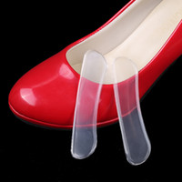 Wholesale gel pad packages resale online - GEL Heel Pads High Heel Stickers Anti Foot Friction Grinding Feet Foot Post Clear Invisable Half Yard Pad with Retail package