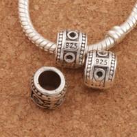 Wholesale Spacer Dangle Beads - 925 Silver Dots Spacer Beads 10mm 120pcs lot Antique Silver Dangle Fit European Bracelets Jewelry DIY L1418