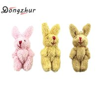 Wholesale 12 months live - 1pc Dollhouse Miniatures 1:12 Scale Mini Fluffy Rabbit Toy Children Diy Accessories Doll House Furniture Toy For Living Room