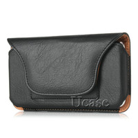 Wholesale iphone 5.5inch for sale - Group buy Luxury Horizontal Holster Leather Case For Iphone Plus s inch Pouch Snap Closure With Belt Clip Card Slots For S6 Edge