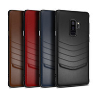 Wholesale note style cases for sale - Group buy Soft TPU Hard Pc Back Leather Case Gentle Business Style Cover Cases For iPhone X Xr Xs max S Plus Samsung Note S8 S9 Plus