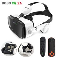 3d gläser für handy großhandel-Original BOBOVR Z4 Leder 3D Karton Helm Virtual Reality VR Brille Headset Stereo Box BOBO VR für 4-6 'Handy