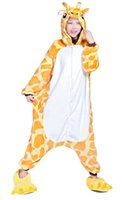 pyjama girafe adultes achat en gros de-Pyjamas unisexe Costume unisexe Animal adulte Girafe