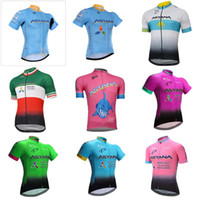 Wholesale Astana Cycling Team - ASTANA team Cycling Short Sleeves jersey cycling jersey 2018 ropa ciclismo bike jersey cycling clothing C1313