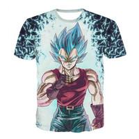 gohan drachen ball großhandel-Dragon Ball Dbz Bulma Super Saiyajin Vegeta T Shirt Männer Frauen Anime Kid Goku Goten Gohan T-shirt Harajuku Lonzo Ball T-shirts