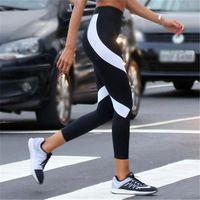 Wholesale Wholesale Jogger Pants Women - Women White Black Yoga Pants Leggings Slim Fit Sports Joggers Pants Gym Clothing for Female HIP Push Up