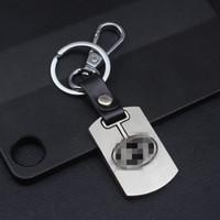 ingrosso chiave autentica di nissan-Portachiavi auto in vera pelle per Volkswagen Toyota Honda NISSAN Portachiavi con cavità in argento placcato
