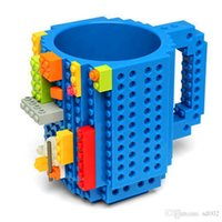 Wholesale minifigures building blocks for sale - Building Blocks Mugs DIY Block Puzzle Type Coffee Cup Novelty Tumbler Decompression Toys For Adults Kids Minifigures Designer rh ZZ