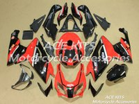 Wholesale ACE Motorcycle Fairings For Aprilia RS125 Compression or Injection Bodywork Black Red No