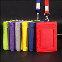 Wholesale wallet badges - Neck Strap Card ID bus Identity card Holder Badge with Lanyard Bank Credit Card Holders women men ljjf025
