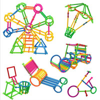 juegos de ensamblaje al por mayor-Colorido Rompecabezas de plástico Smart Stick Bloques ensamblados Juegos de jardín de infantes Juguetes educativos para niños Smart Stick Bloques de construcción Spell Stick