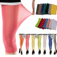 84fa8b4191d6b Wholesale thin summer leggings for sale - Group buy 14 Colors Wome Mesh  Candy Color Leggings