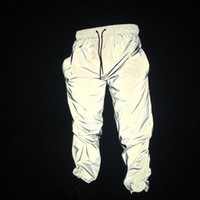 Europe and the United States autumn winter male and female reflective trousers BF wind jogging pants sports hip hop dancing hip hop Haren fa