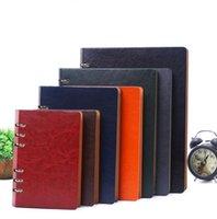 weinlese buchhaltung buch großhandel-A6 Geschäft Notizbuch Leder Vintage Pu Spirale Notebooks Student Büro Anbieter Notizblock klassische Reise Journal Konten Bücher aufzeichnen