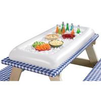 decorações de festa para piscina venda por atacado-Festa de Verão Inflável Salada Bar Buffet Balde de Gelo Piscina Ao Ar Livre Decoração Suprimentos Brinquedo Divertido Presente de Aniversário de Casamento