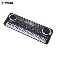 çocuklar için klavye toptan satış-Toptan 61 Tuşları Elektronik Müzik Klavye Elektrik Organ Mikrofon Ile Çocuk Enstrüman Erken Eğitim Aracı Kid Için