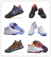 Wholesale New Hand Cream - Wholesale Cheap 2018 New Kyrie3 Hand of Fatima mens Basketball shoes men Black Orange Blue Figure Kyrie Irving Sneakers size 41-47