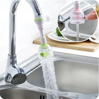Wholesale mouth shower - 3 Colors Practical Kitchen Shower Nozzle Rotary Anti Splash Tap Water Valve Mouth Filter Kitchen Water-saving Faucet CCA8957 100pcs