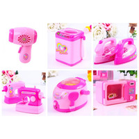 Wholesale Electric Sew Machine - Play House Toy Girl Simulation Sewing Machine Rice Cooker Multi Design Toys Electric Mini Kitchens Pretend Tool Hot Selling 7 8qj6 Z