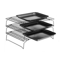 Wholesale Rack Ovens - 3 Tier Baking Cooling Rack Nonstick Stackable Grid Cooking Cake Pies Bakery Oven