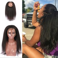 Wholesale hair straights for sale for sale - Group buy Hot Sale Kinky Straight Frontal With Baby Hair Non Processed Manaysian Human Hair Extensions For Women G EASY