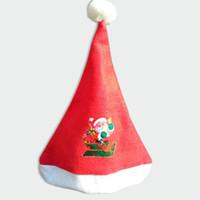 ingrosso luci blu icicles-37 * 28 Cm X 'Mas Babbo Natale Cappelli Cappello Natale Cosplay Partito Caps Accessori decorativi per la festa 30 Pz / lotto