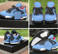 899ec409547c8b 2018 Top Quality 4 4s Travis Scot 308497-406 Houston Oiler Cactus Jack Mens  Basketball Shoes Athletic Sport Sneakers With Box Size US 8-13