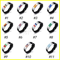 Wholesale Metal Wristbands For Men - Russia World Cup Multinational Flag Bracelet for Men Women Football Fans silicon Wristband Male Bracelets Jewelry surprise doll toys