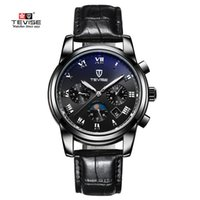 Wholesale Genuine Leather Automatic Men Watch - TEVISE 2018 Luxury Waterproof Luminous Automatic Watch Men Mechanical Genuine Leather Man Business Wristwatch