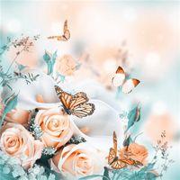kelebekler çapraz dikiş toptan satış-3D DIY Elmas Boyama Çapraz Dikiş Çiçekler Kelebekler Çiçek Kristal İğne Elmas Nakış Tam Elmas Dekoratif