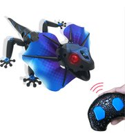 Wholesale Toys For Pranks - IR RC Frill-Necked Lizard Toy Induction Extendible Frill Dragon Lizardbot 3 Modes Remote Radio Control Animal 9918 Prank Toy for Kids