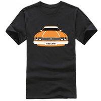 custom headlight toptan satış-Yeni 2018 ÖZEL HTees T-shirt-FORD CAPRI yuvarlak / kare far, Pick araba renk plakası tops