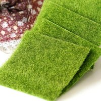 ingrosso tappeto falso-Nuovo micro paesaggio decorazione fai da te mini fata giardino simulazione piante artificiale finto muschio decorativo prato tappeto erboso erba verde.