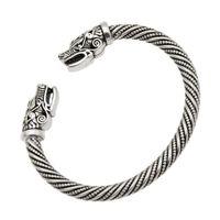 ingrosso migliori braccialetti-Bracciali vichinghi di lupo testa maschile gioielli indiani best list 2018 prodotti accessori bracciale bracciale polsino bracciale donna da uomo