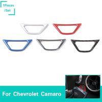 auto lampen aufkleber großhandel-Auto Notfall Lampe Schalter Dekoration Trim Ring Aufkleber Für Chevrolet Camaro 2017 Up Car Styling Innen Zubehör