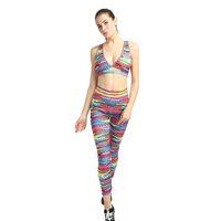 ropa de correr sexy al por mayor-2018 nueva aptitud Solid Yoga Wear Fitness Trousers Set Sports Running Set Mujeres bra pantalones ropa deportiva GYM sexy traje de yoga