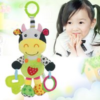Wholesale stroller baby doll resale online - Multifunctional Baby Infant Rattles Toy Soft Doll Plush Animal Stroller Music Hanging Bell Toy Gift