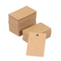küpeler boşluklar toptan satış-200 adet Kraft Kağıt Takı Kartları Taşınabilir Retro Geri Dönüşümlü Boş Kolye Kulak Çiviler Küpe Sahipleri Ekran Kartları