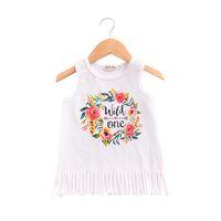 Wholesale baby clothes for girls black resale online - White Boho Babe Dress Girls Vest Tassels Dresses Black Wild One Printed Dresses for Baby Girls Sleeveless Dress Girls Clothes