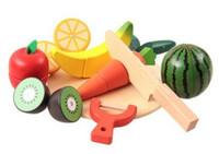 Wholesale Toy Kitchen Utensils Wholesale - 3 pcs Hot Sales Children's Cooking Utensils Children's Wooden Fruit and Vegetables Simulated Kitchen Children Intelligence Development