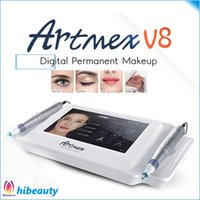 Wholesale make permanent - Free shipping Digital tattoo permanent make up machine Auto Microneedle System for eyebrow eyeliner lip Artmex V8