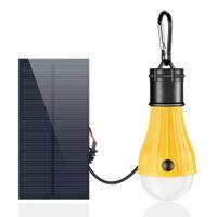 ingrosso luci casa solare indoor-Lampada solare ricaricabile 165 LM ricaricabile a luce solare per interni, esterni per uragano Off-grid Home Chicken Coop Solar Lamp