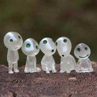 ingrosso figurine del fumetto-Principessa Mononoke Luminous Elves Tree Doll Elf Posture Figurine Cartoon Alien Piccolo carino Kodamas Toys Spirit