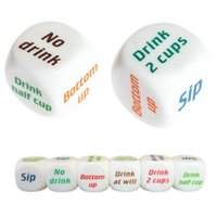 Wholesale Dice Funny - TR001 New Funny Drinking Sip Dice Roll Decider Game Party Bar Club Pub Gift Toy